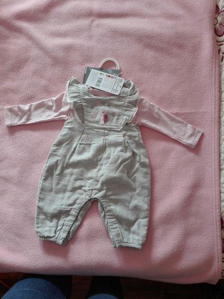 Macacão para menina, , tamanho 3 meses, NOVO