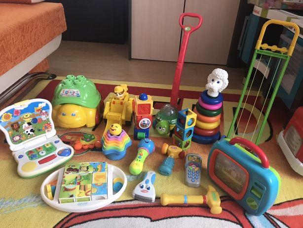 Zabawki Fisher Price, clementoni ,żółwik, pchacz, psi patrol, mikrofon