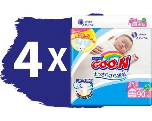 Памперсы GOO.N для новорожденных до 5 кг размер SS 360шт.