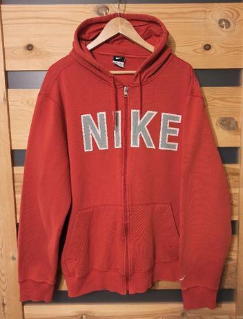 Spellout Nike czerwone hoodie bluza z kapturem
