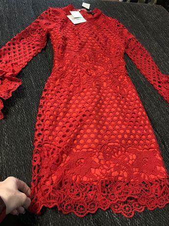 Sukienka czerwona missquided 36