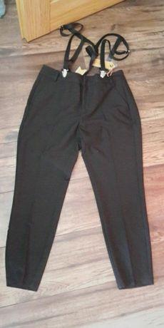 Eleganckie spodnie na szelki