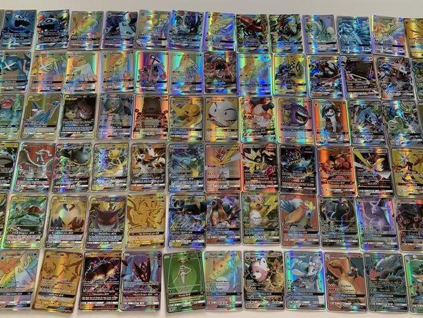 Zestaw Karty pokemon 196 kart każda inna świecące pikachu charizard