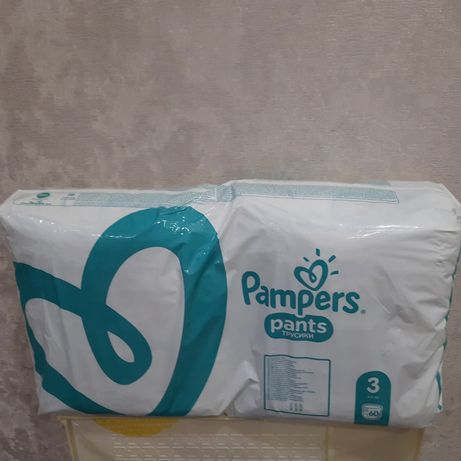 Подгузники-трусики Pampers Pants 3 (6-11 кг), 60 шт.