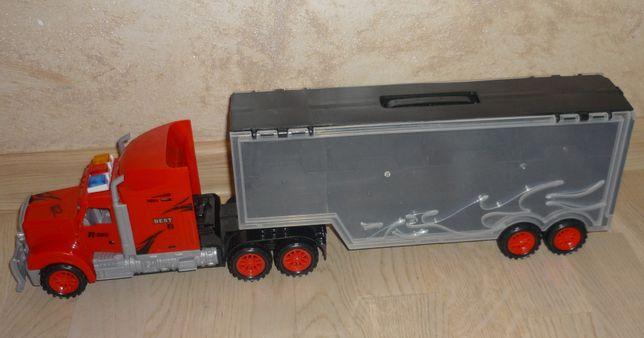Duża Laweta TIR 50 cm Ciężarówka z przyczepą na autka