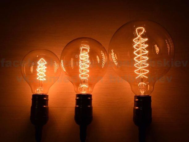Лофт Лампы Эдисона шары G спиральные ретро лампочки Эдисона Loft
