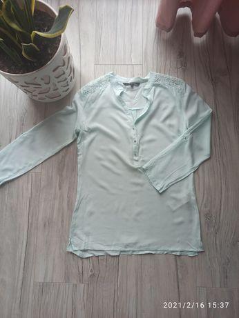 Lekka koszula miętowa reserved rozmiar 38/40