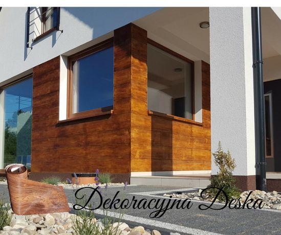 Deska elewacyjna, imitacja drewna, deska elastyczna, producent