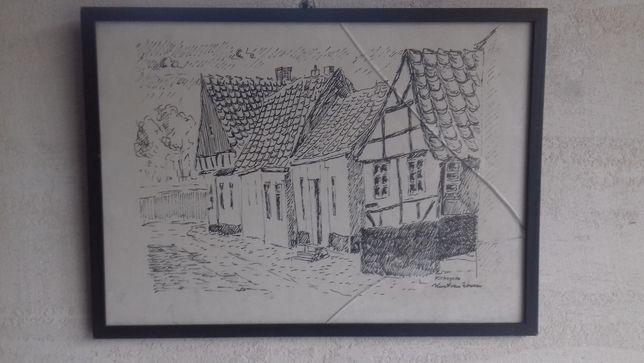5 Stara grafika druk artystyczny Kurt von Wowern