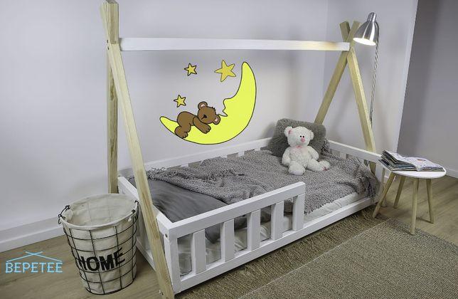 Łóżko dla dzieci Tipi z barierkami,łóżko dla dzieci bepetee.pl