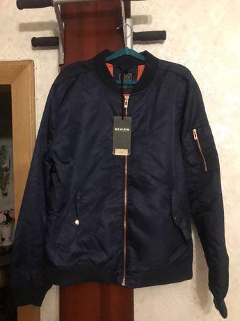 Продам куртку,бомбер Review,не alpha industries. Темно-синего цвета.
