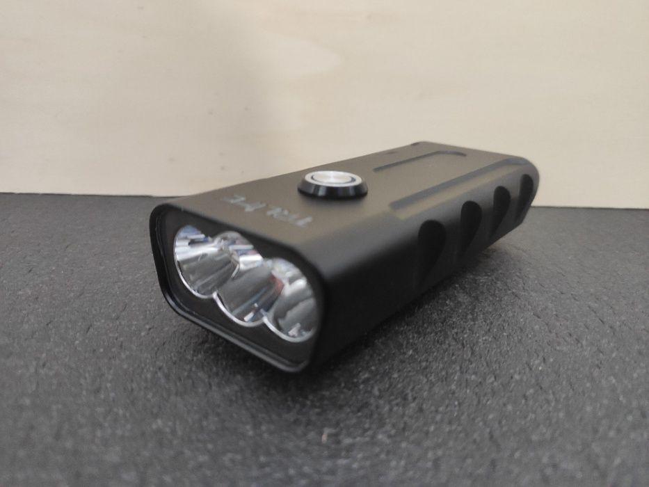 Lanterna para bicicleta USB c/powerbank 5200mAh Pombal - imagem 1