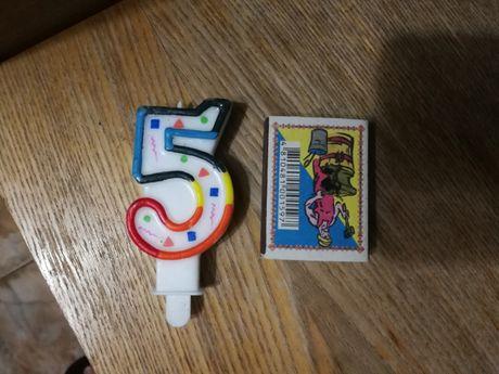 Свеча на торт 5 лет новая без упаковки