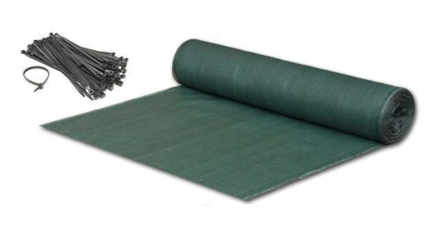 SIATKA CIENIUJĄCA 90% 1,5x50m na płot, kolor zielony, odporna na UV