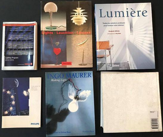 Lote 14 Livros Importados-Arquitectura/interiores/decoração/iluminação