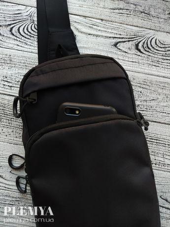 Мужская сумка слинг кобура Cross Body/барсетка через плечо/бананка