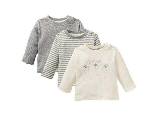 Набір (3шт) регланів малюкам lupilu(кофточки мал.,дев.)реал.2-3 года