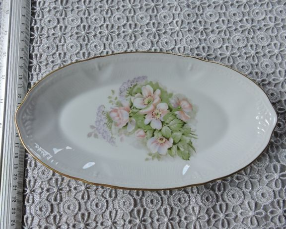 Salaterka limoges porcelain - kwiat jabłoni