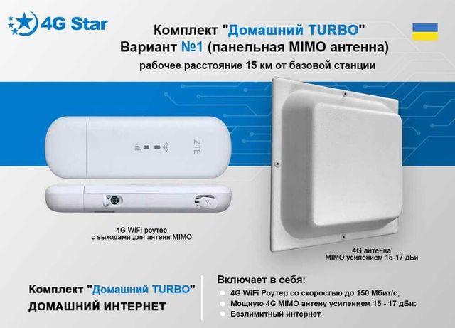 Комплект для 3G/4G/LTE WiFi Роутер ZTE MF79u + антенна MIMO