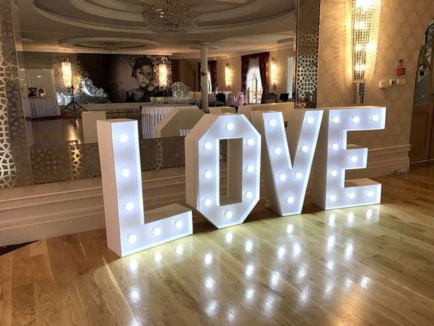 Podświetlany napis LOVE 100 cm 120 cm