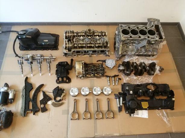 Silnik bmw E87 E90 N43B20A cześći wał korbowy blok głowica pompa