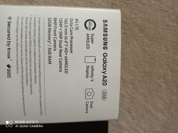 Продам Samsung  galaxy A20