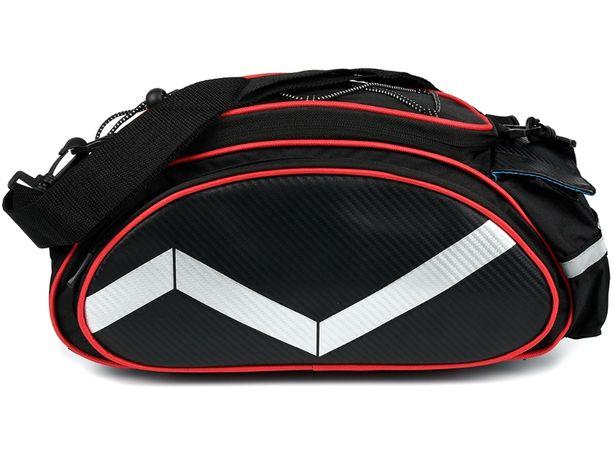 torba rowerowa sakwa na bagażnik ramię rower F90 czerwony