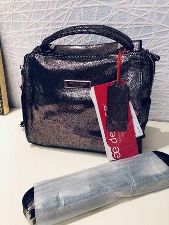 Продам новую кожаную сумку De Esse!