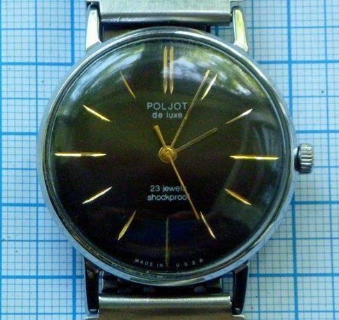 Полет де Люкс часы СССР Poljot de luxe тонкие