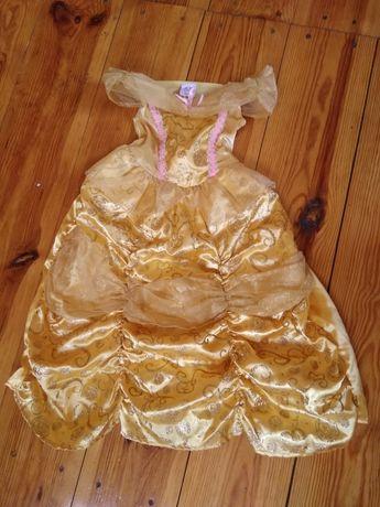 Жёлтое платье Бель с Красавица и чудовище на 3-4 года, 104 см Дисней