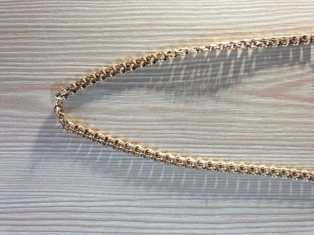 Золотая цепочка 585 пробы, вес 24.47 грамма, длина 55.5 сантиметра