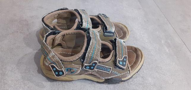 Sandałki beżowo-brązowe coolclub rozmiar 27