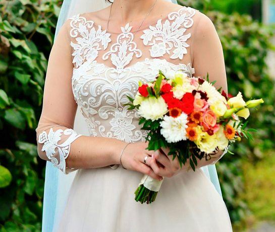 Шикарное свадебное платье! Идеальное состояние