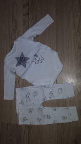 Komplet  body + spodnie marki f&f 0- 3 miesięcy