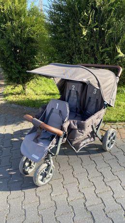 Wózek trzyosobowy  spacerówka childhome triplet