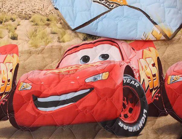 Стеганное покрывало детское полуторное одеяло с мульт персонажами