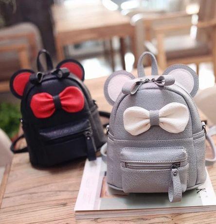 Маленький женский детский рюкзак портфель сумочка Микки Маус с ушками