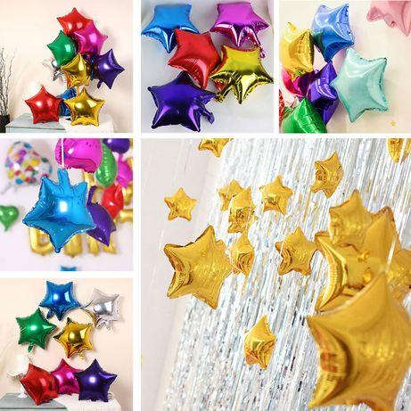 Звездочки из фольги шарики звезды фольгированные воздушные шары декор