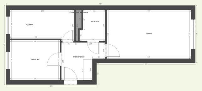 Mieszkanie, 48 m², 2-pokojowe, Kędzierzyn-Koźle