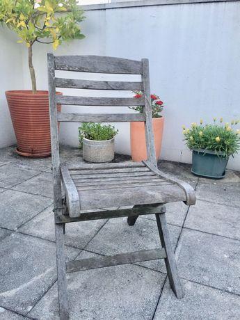 Cadeiras de jardim em madeira TEKA