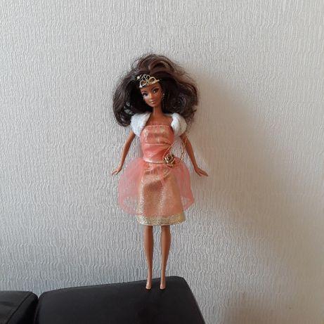 lalka Barbie z rzęsami, Mattel, zgina nogi, brązowe włosy, laleczka