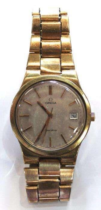Relógio De Pulso Antigo Omega Genève Ponta Delgada - imagem 1