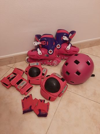 Patins + Kit protecção p/criança