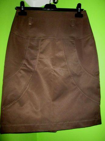 spódnica elegancka - jasny brąz roz 38
