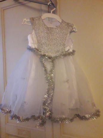 Платье снежинки карнавальный костюм