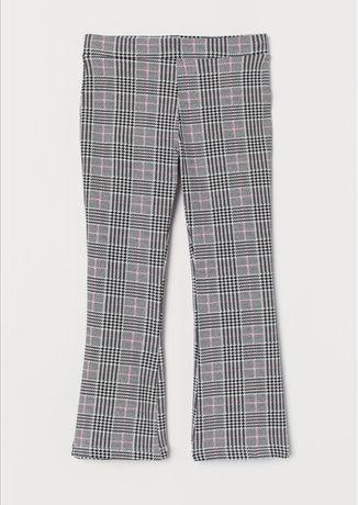 H&M 98 nowe spodnie w kratkę dzwony
