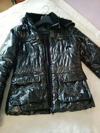 Piękna czarna kurteczka dla dziewczynki stan idealny
