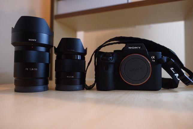 Sony A7     + Sony 55 f 1.8 + Sony 28 f 2.0 ідеальний стан