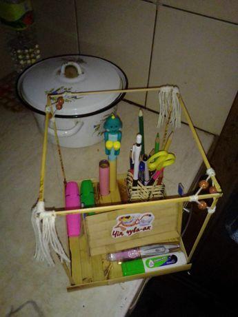 Подставка для канцелярии ручная работа из бамбука. Подставка для каран