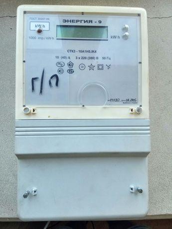 Продам электронный трёхфазный счётчик электрической энергии